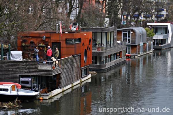 Hambuerg-Eilbek - Hausboote. Foto: Petra A. Bauer 2015