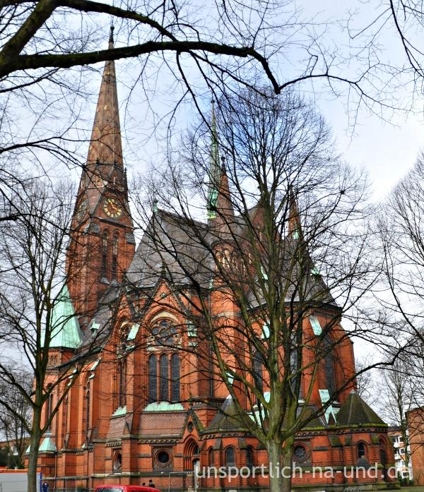 Eilbek,. St. Getrud (glaube ich). Foto: Petra A. Bauer 2015.