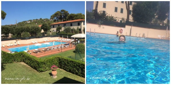 #everyday45minutes in der Toscana im Pool